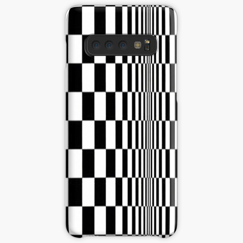 Movement in Squares, by Bridget Riley 1961, chess, tile, square, pattern, design, grid, mosaic, checkerboard, bank check, abstract Posters Samsung Galaxy Snap Case