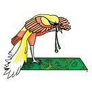 Bird of Paradise in a Yoga Pose by Sara Kear