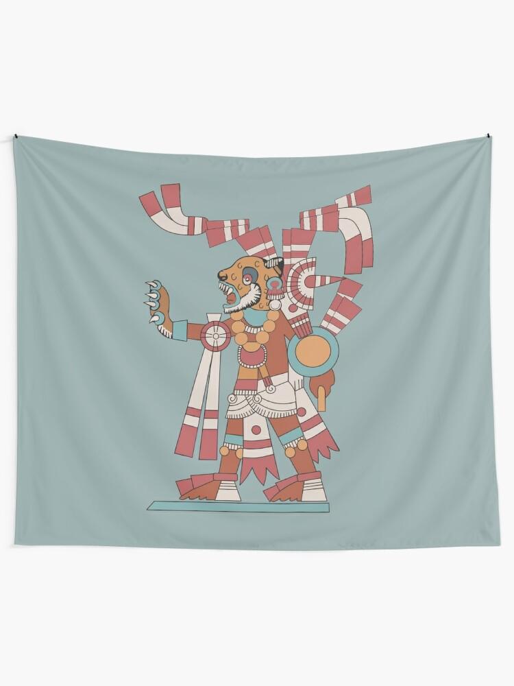 Alternate view of Jaguar Knight Tapestry