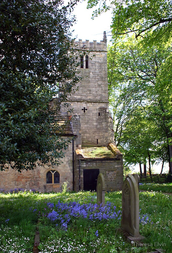 Kirk Bramwith Church in Spring by Theresa Elvin