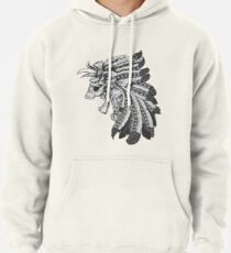 Indian Chief Skull with Headdress Pullover Hoodie