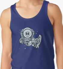 Space Skating Skull Tank Top