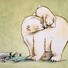 Mother and Cub 2 by Sarah  Mac Illustration