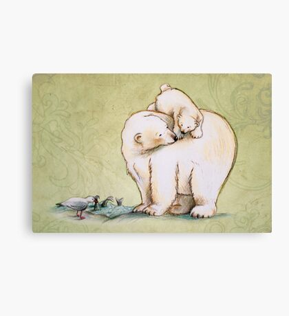Mother and Cub 2 Canvas Print