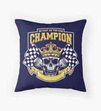 Racing Champion Skull Pistons Floor Pillow