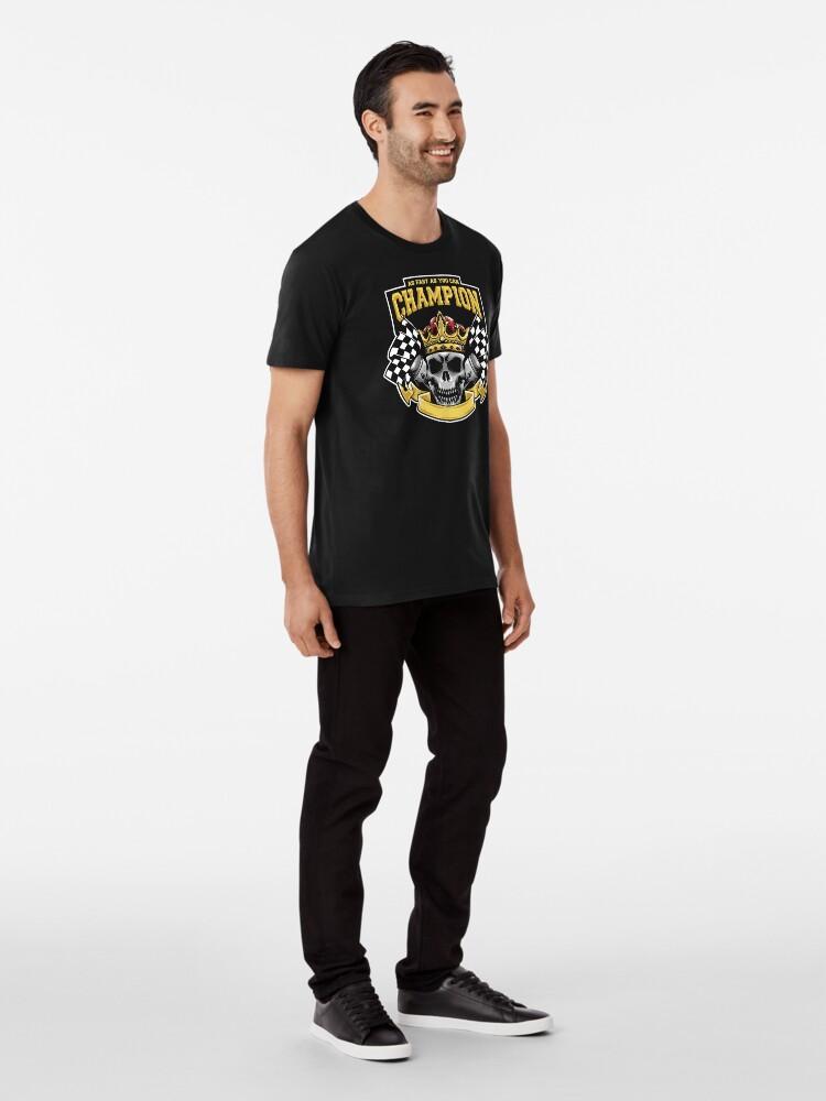 Alternate view of Racing Champion Skull Pistons Premium T-Shirt