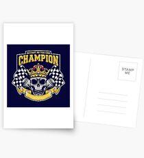 Racing Champion Skull Pistons Postcards