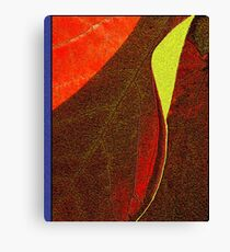 A Leaf Becomes a Notebook Canvas Print