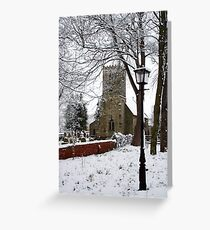 Kirk Bramwith Church in Winter Greeting Card