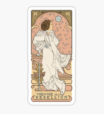 Leia Nouveau Sticker