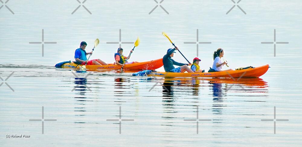Kayaking Family by photorolandi