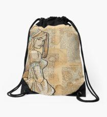 The Iron Woman 9 Drawstring Bag