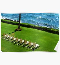 Chairs on the Beach Poster
