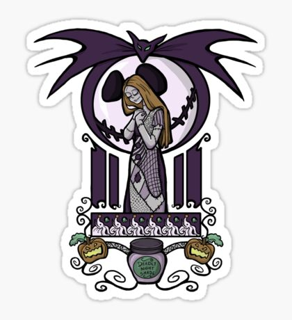 Nightmare Nouveau Sticker