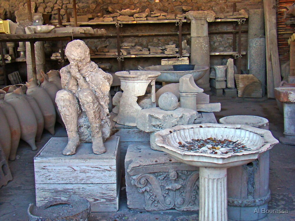 Death Throes IV, Pompeii 79AD by Al Bourassa