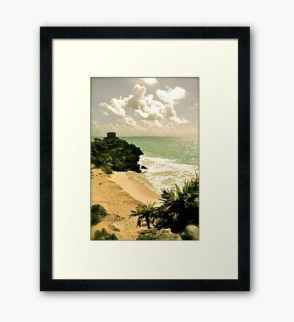 Ruinas en La Costa Framed Print
