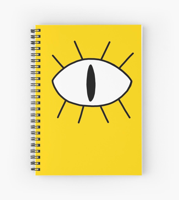 Bill cipher eye spiral notebooks by bambi drawings redbubble bill cipher eye by bambi drawings biocorpaavc