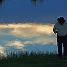 Sundown on Lake Walcot by Susan Blevins