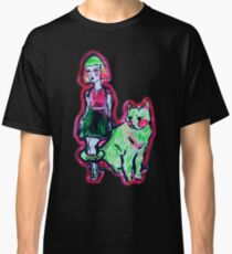 Space Cat and Neon Friend Classic T-Shirt