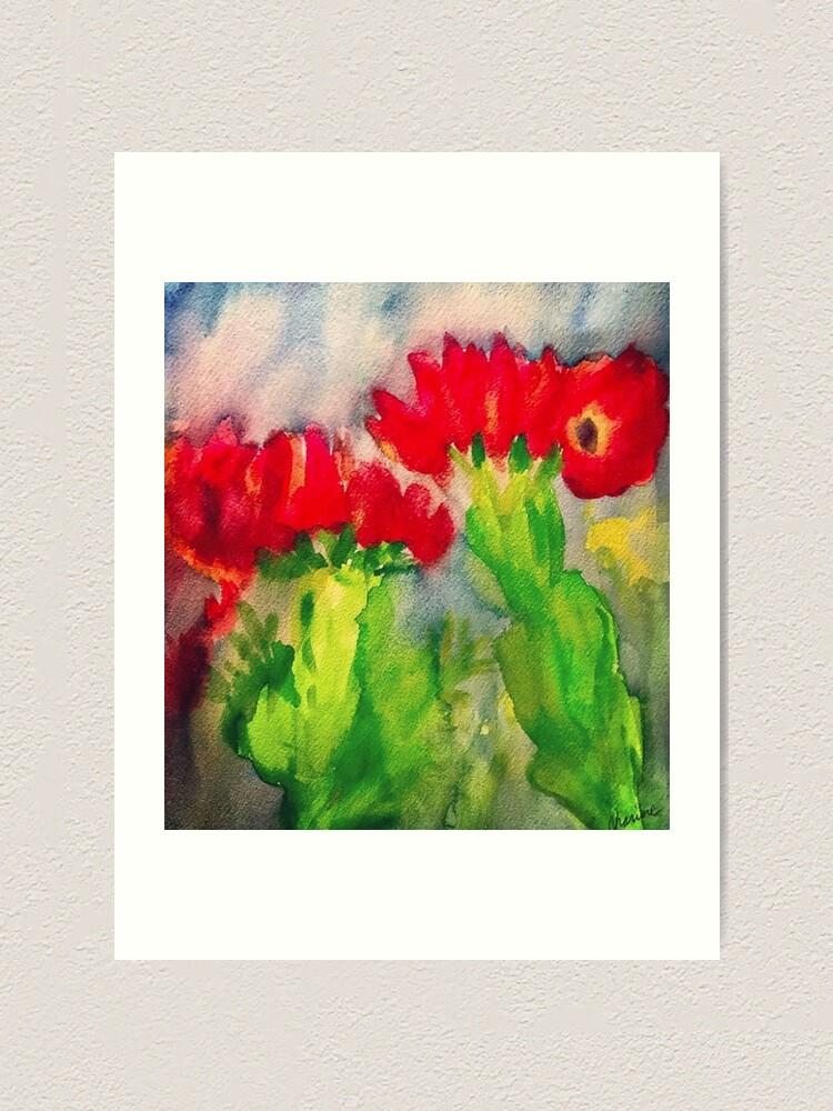 Alternate view of Cactus Flowers Art Print