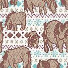 Fairisle Shetland Ponies - Brown by Juliewdesigns