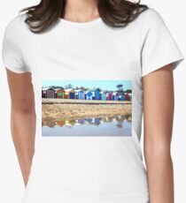 Bathing Boxes, Brighton Beach Womens Fitted T-Shirt