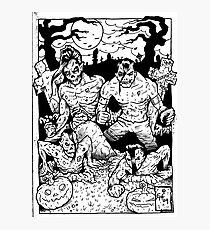 Misfits Comic-book Style Photographic Print