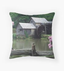 Mabry Mill - Spring Throw Pillow