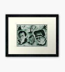 Famous Monsters Framed Print