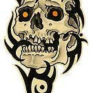 Tribal Skull 1 by johnreardontat2