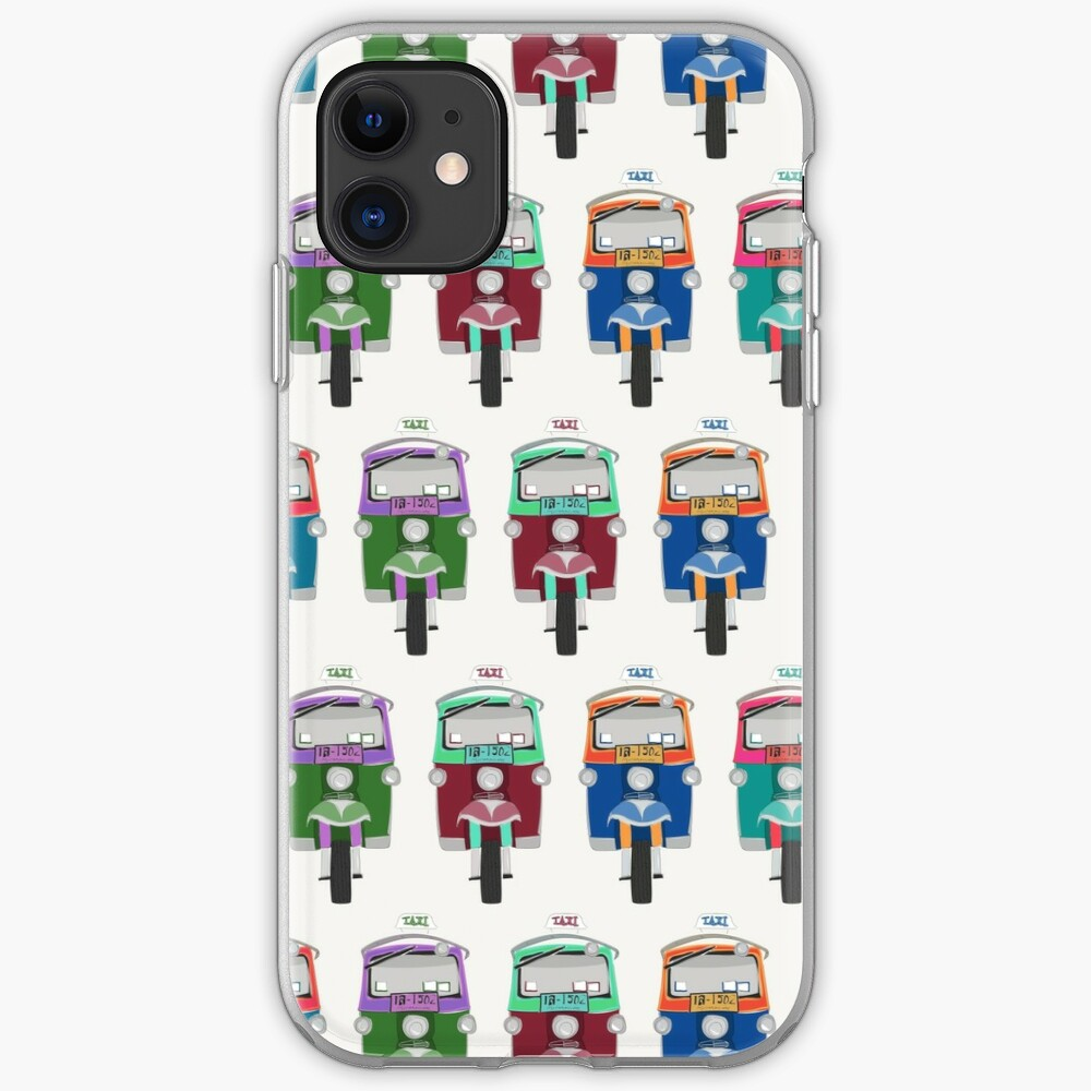 Thailand Tuk Tuks in a Row Pattern  iPhone Soft Case