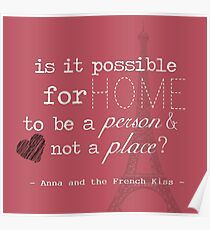 Anna and the French Kiss Quote Poster