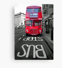 Big Red Bus Canvas Print