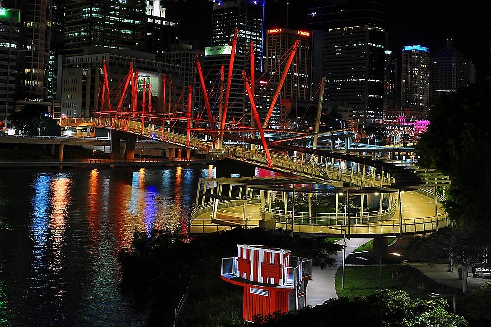 Kurilpa Pedestrian Bridge. Brisbane, Queensland, Australia by Ralph de Zilva