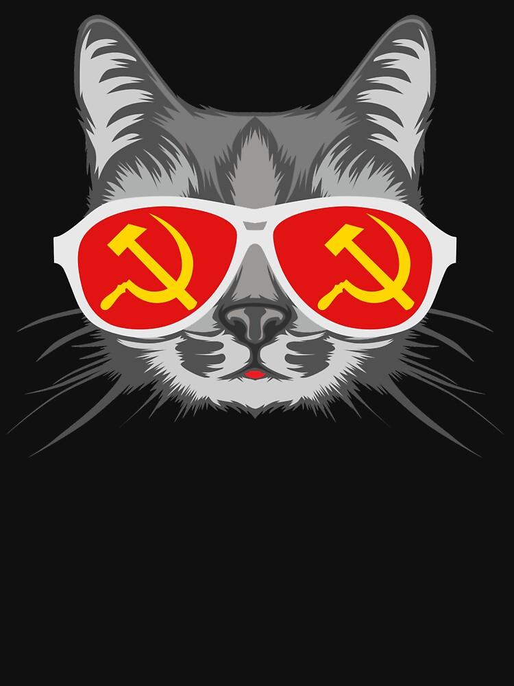 Lustige sowjetische kommunistische Katze von SQWEAR