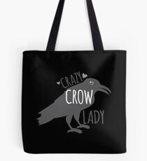 CRAZY Crow Lady Tote Bag