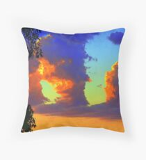 Clouds of Heavens Painted Brush Throw Pillow
