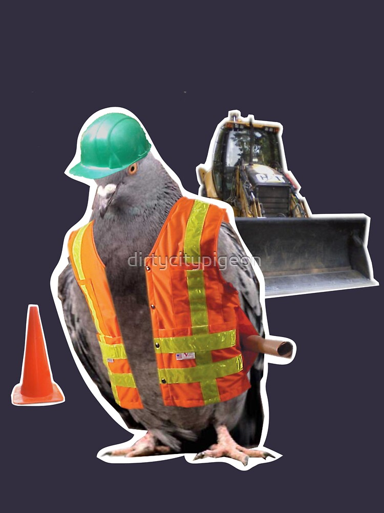 construction pigeon foremen by dirtycitypigeon