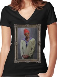 Tyrone Biggums Women's Fitted V-Neck T-Shirt