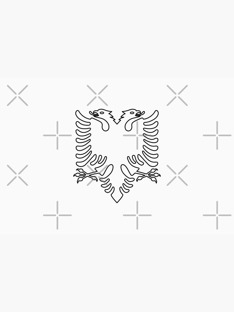 Albania Flag · Black Symbol · Outlined by Mondokoro