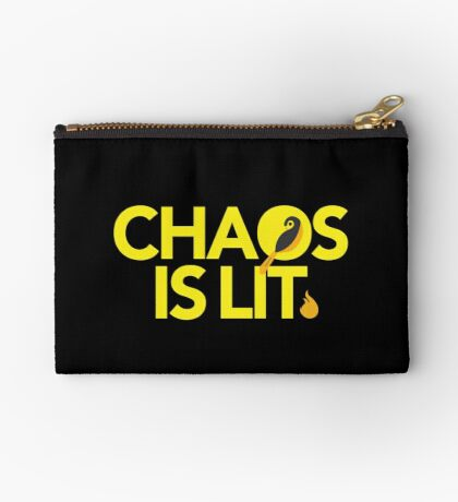 Chaos Is Lit  Zipper Pouch
