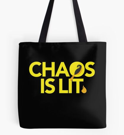 Chaos Is Lit  Tote Bag