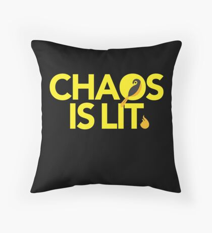 Chaos Is Lit  Throw Pillow