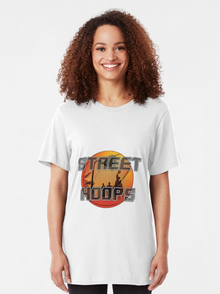 Alternate view of Street hoops basketball Slim Fit T-Shirt