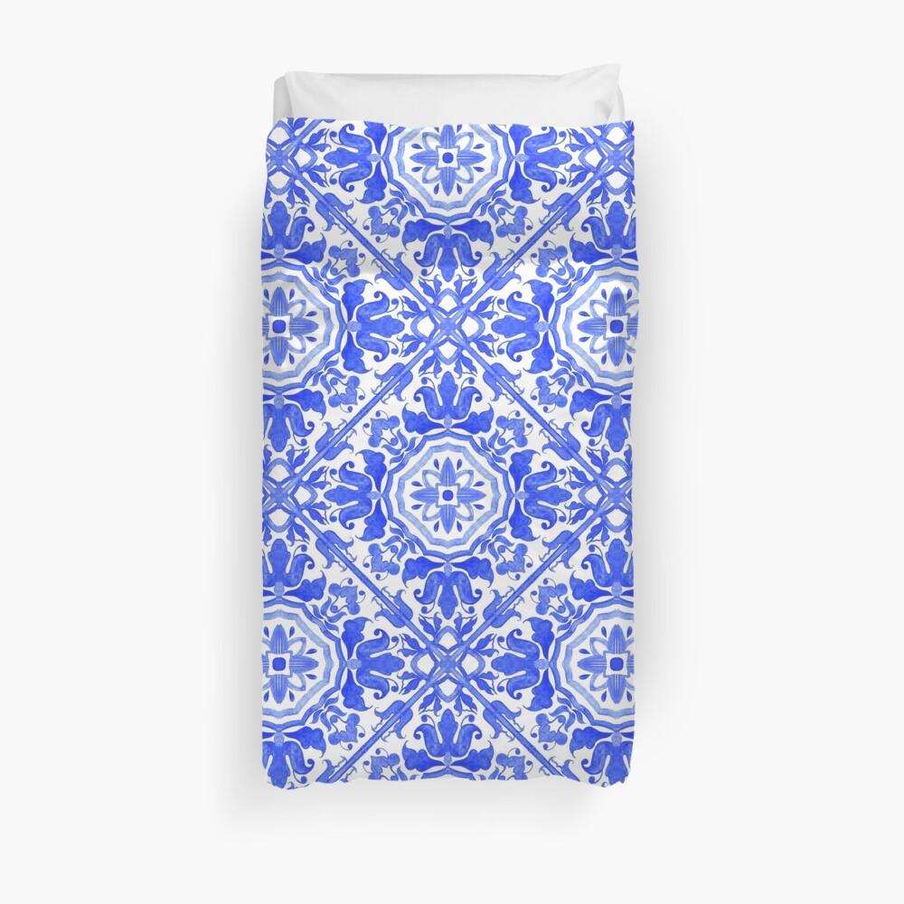 Portugiesische Azulejo-Fliesen. Bettbezug