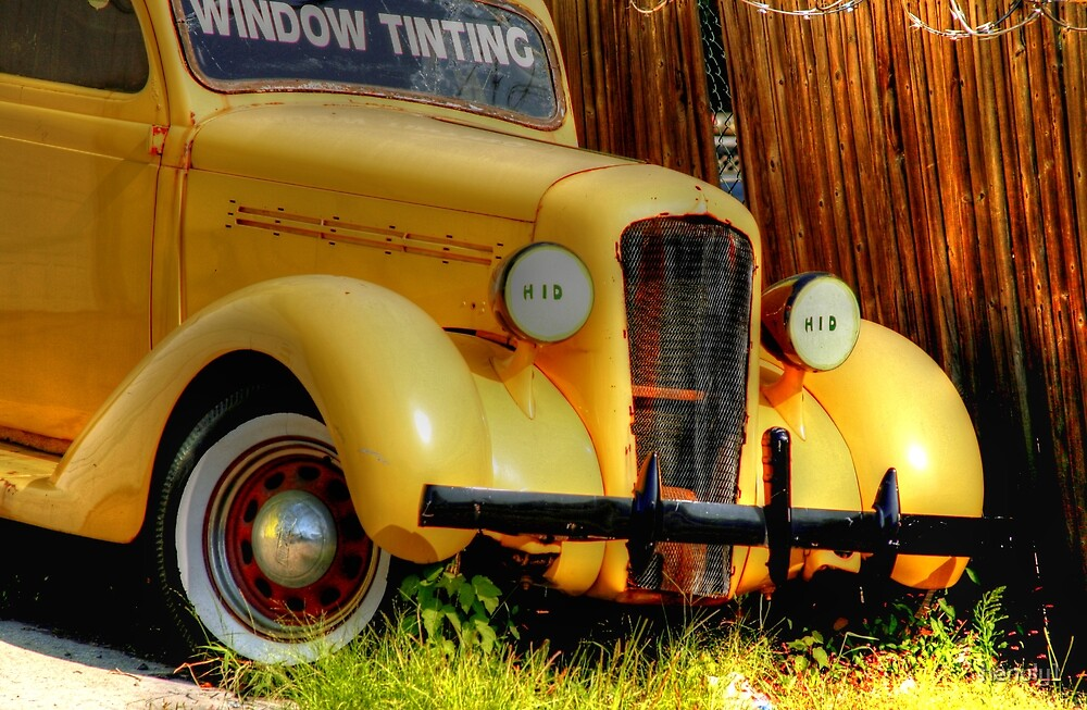 yellow  classic used for advertising-front side view by henuly1