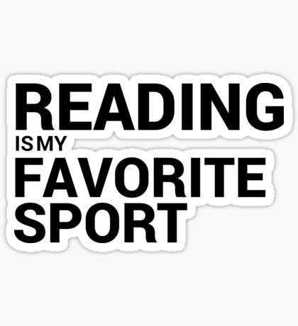Reading is my Favorite Sport Sticker