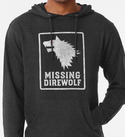 Missing Direwolf  Lightweight Hoodie