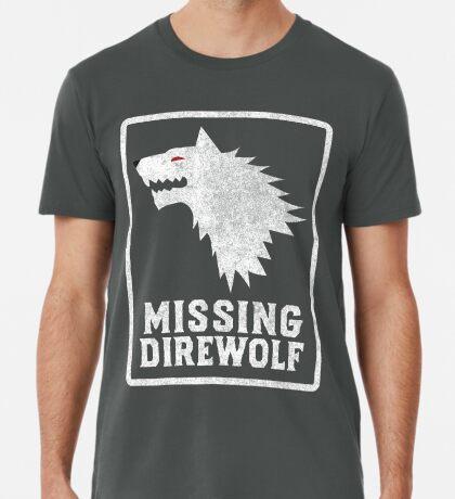 Missing Direwolf  Premium T-Shirt