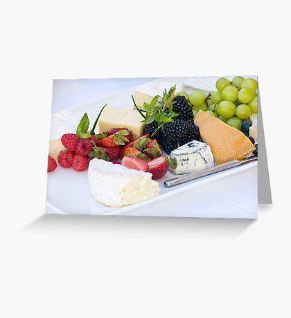 Fruit & Cheese Platter Greeting Card